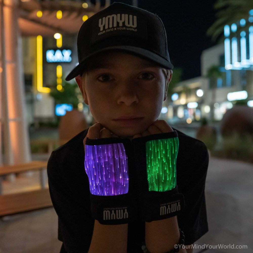 led light gloves for teens and kids