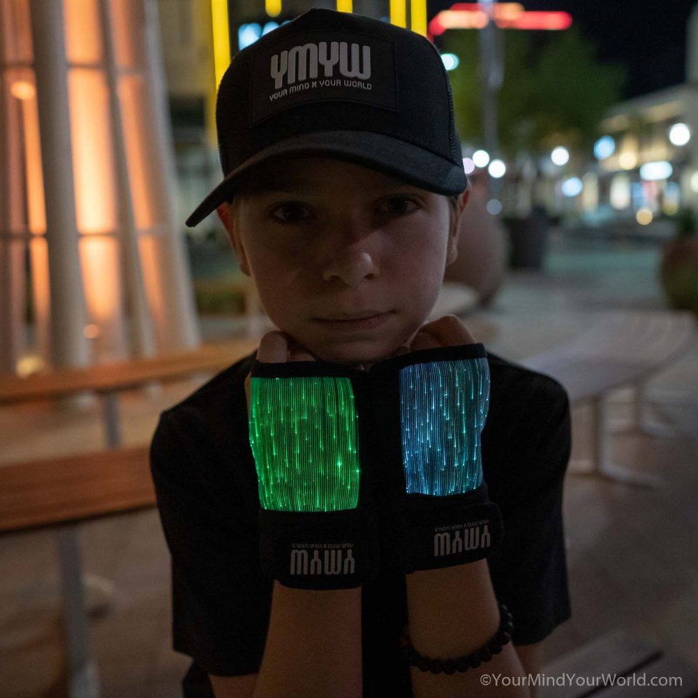 led light gloves for kids and teens