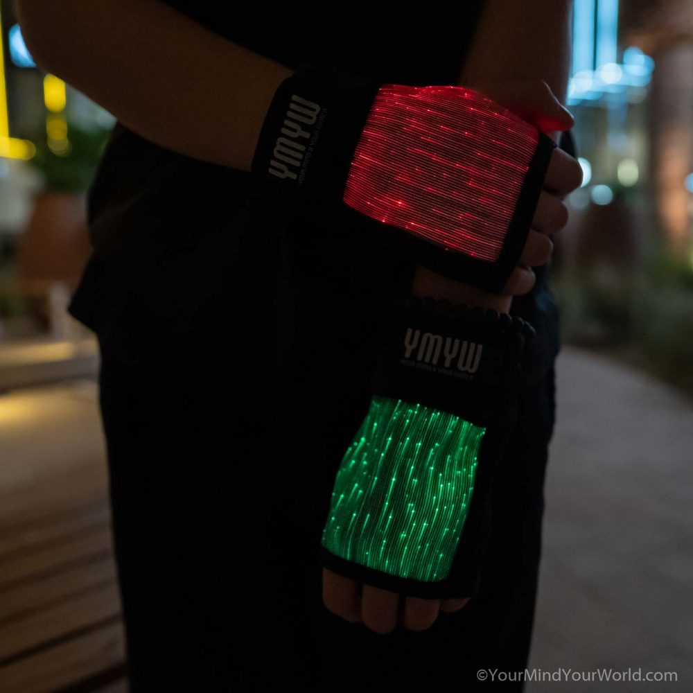 led gloves finger lights