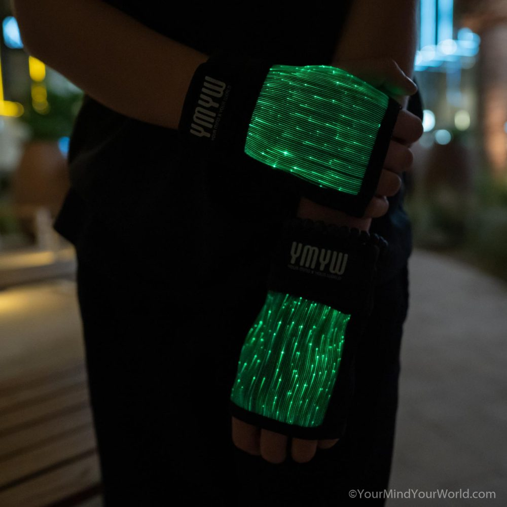 fingerless led gloves for teens