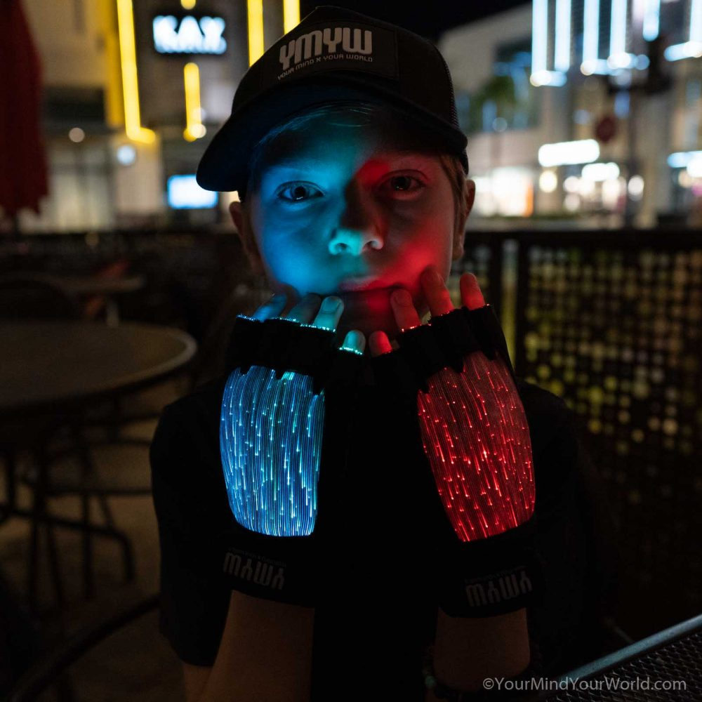 light up finger gloves