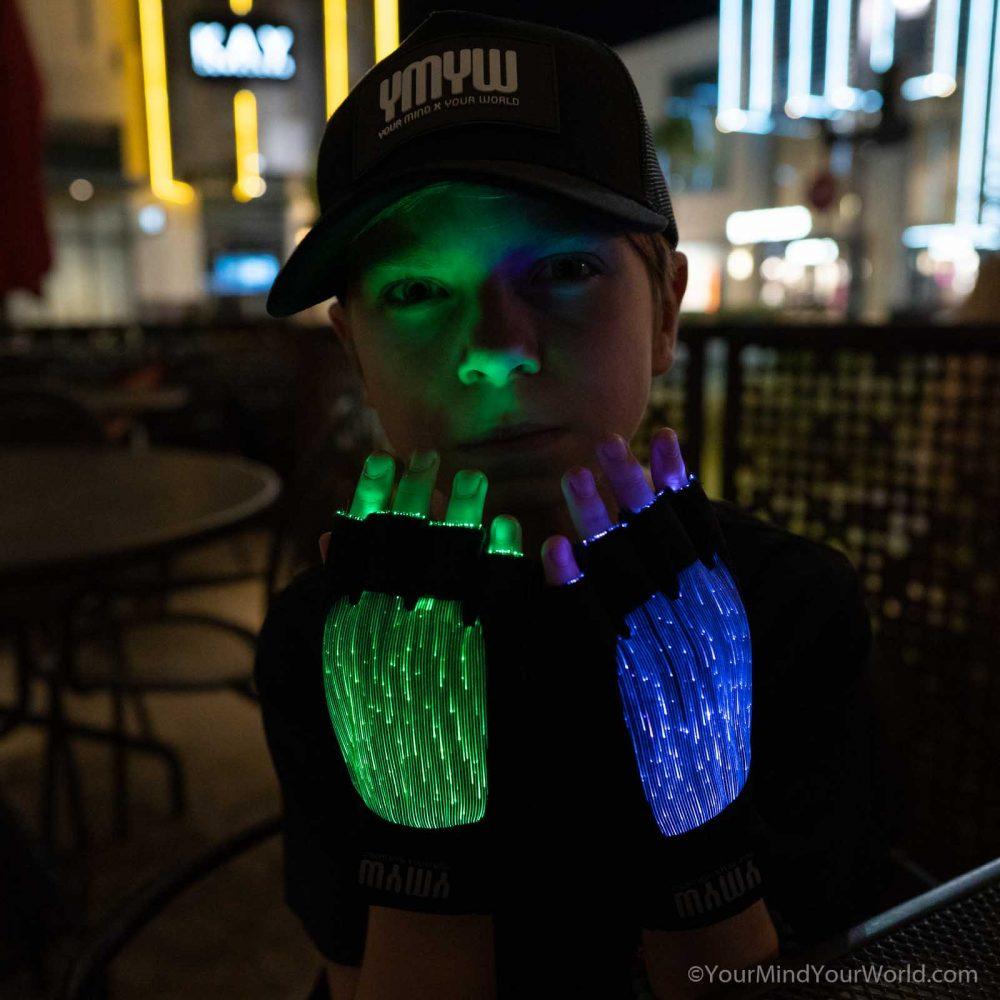 led light gloves for teens