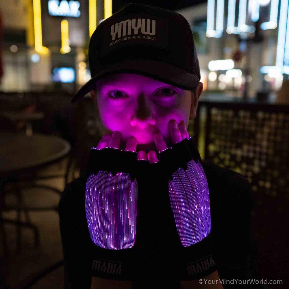 led finger light gloves for kids