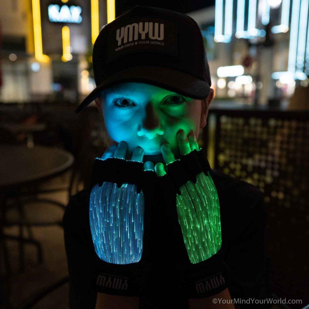 led light gloves for kids and teens