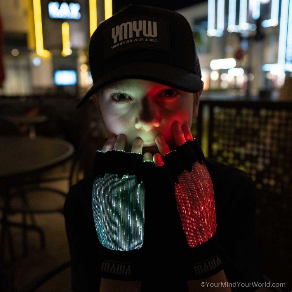 led gloves finger lights for teens