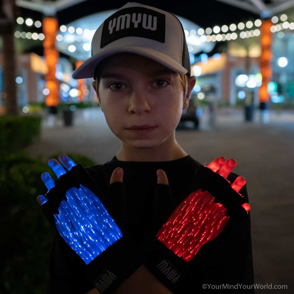 LIGHT UP GLOVES for KIDS and TEENS