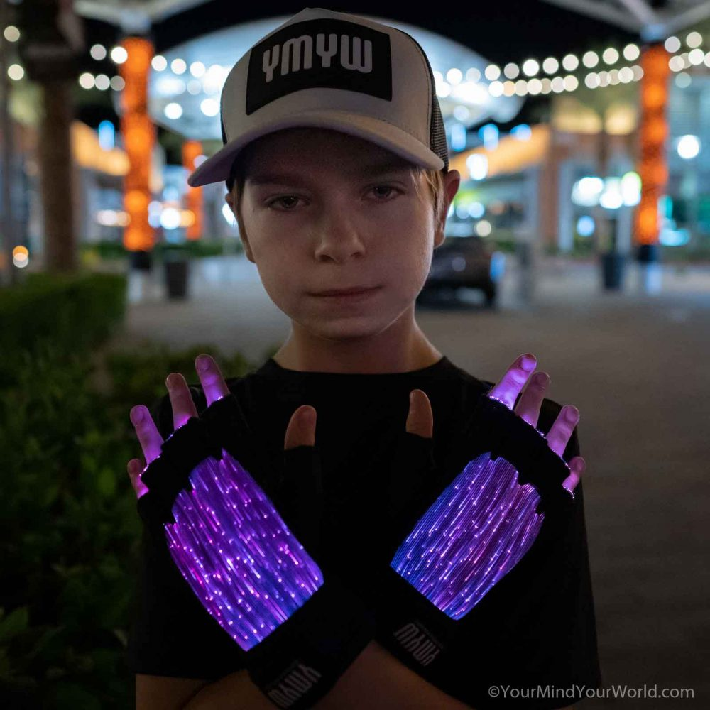 led gloves finger lights